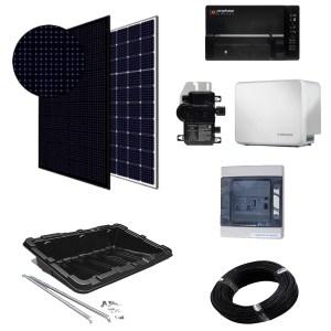 Paneles con batería - kit micro-inversores para superficie horizontal