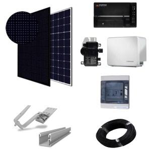 Paneles con batería - kit micro-inversores para tejado