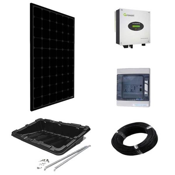 Paneles sin batería - kit inversor central para superficie horizontal