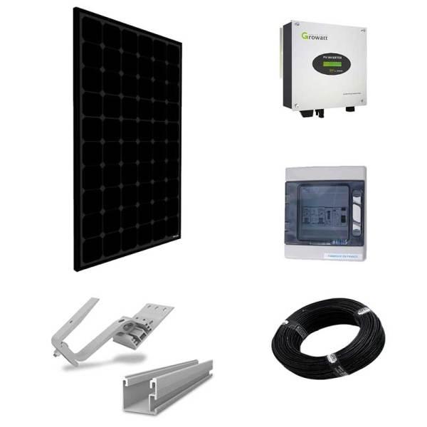 Paneles sin batería - kit inversor central para tejado