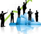 ganancias, grafico, crecimiento, negocios