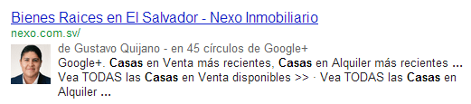 autor verificado google, captura de pantalla