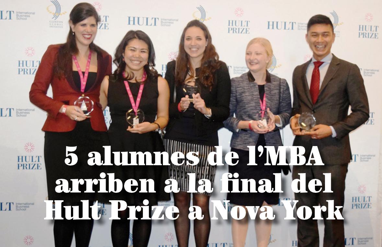 5 alumnes de l'MBA arriben a la final del Hult Prize a Nova York