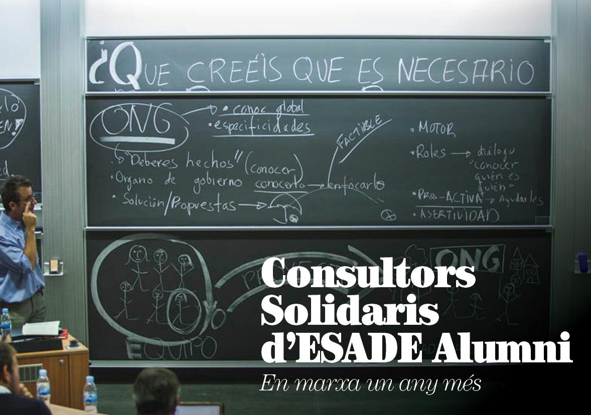 Consultors Solidaris d'ESADE Alumni, en marxa un any més