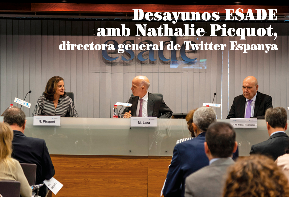 Desayunos ESADE amb Nathalie Picquot, directora general de Twitter Espanya