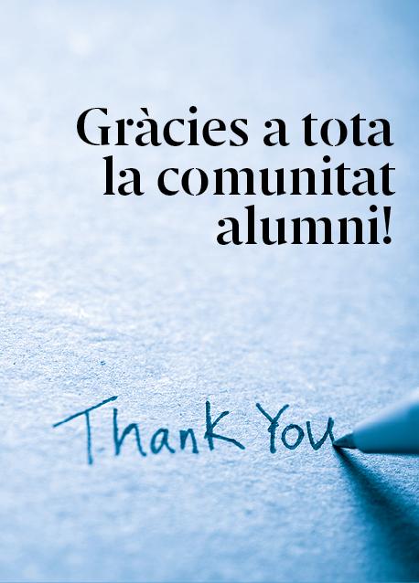 Gràcies a tots els alumni per ser-hi i donar sentir a aquesta comunitat!