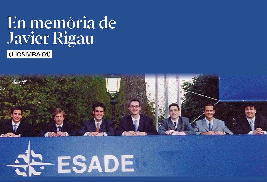 En memòria de Javi Rigau (Lic&MBA 01)