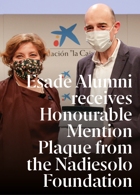 ESADE Alumni Receives Honourable Mention Plaque from the Nadiesolo Foundation