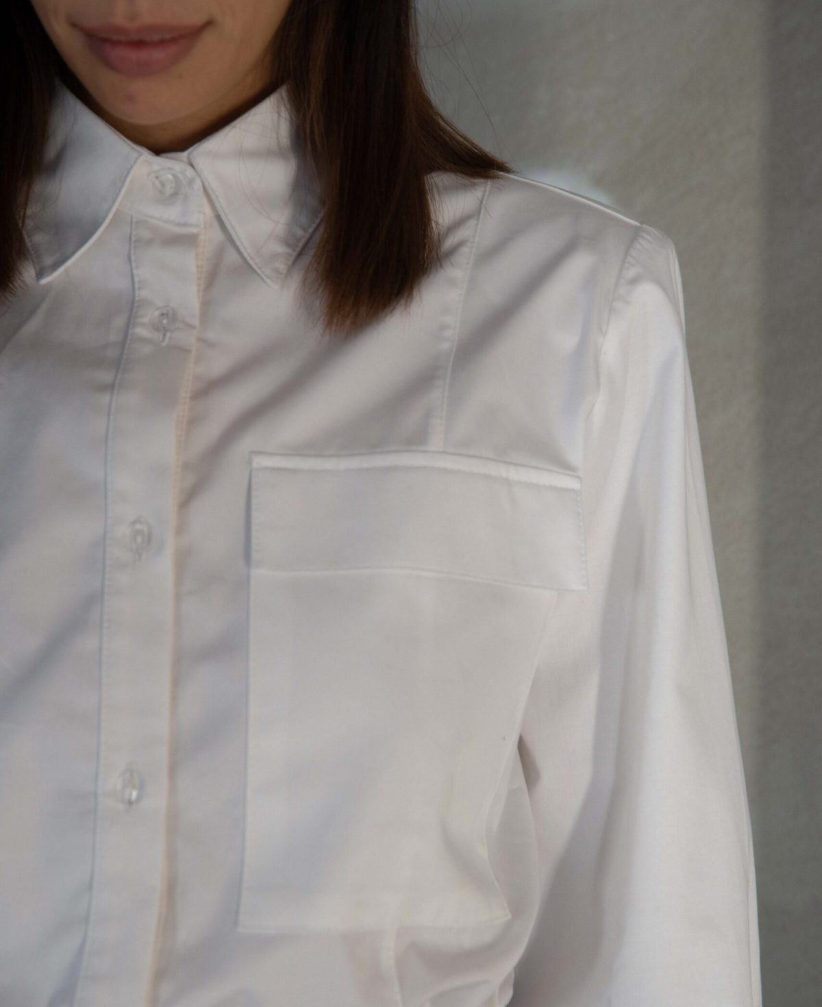 cropped long sleeves shirt