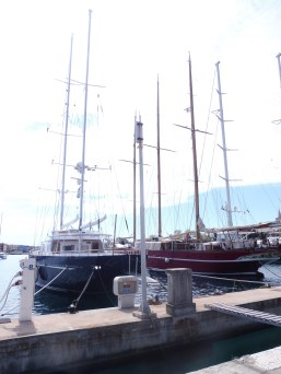 Examples of the yachts in the Zadar harbor.