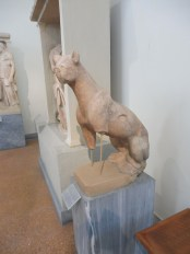 Cat sculpture, 6th Century B.C., National Archaeological Museum, Athens.