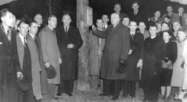 Switch-on ceremony at Inniscarra December 22nd. 1947