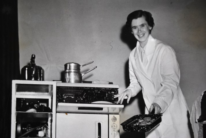 Cookery demonstration, c1950s