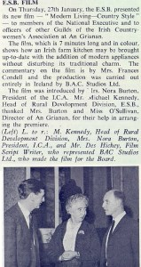 Launch of Modern Living Country Style Film at ICA Headquarters, 27 January 1966