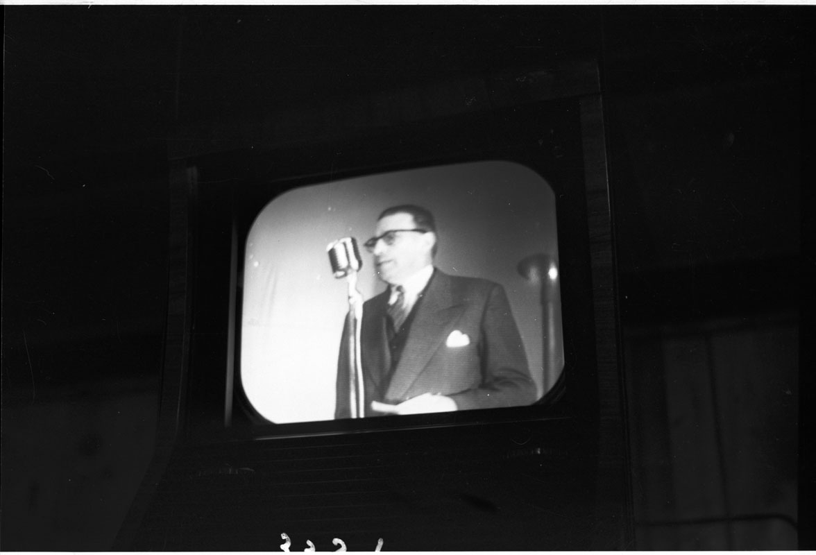 Sean Lemass as viewed on television, Ballinamult Creamery