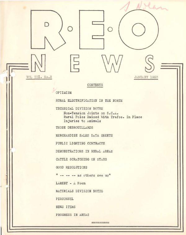 REO News, 1950