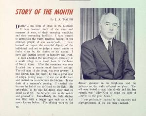J.A. Walsh anecdote. ESB Journal January 1959