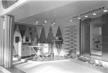RDS home exhibit, laundry, 1960s