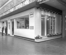 RDS home exhibit, exterior, 1960s