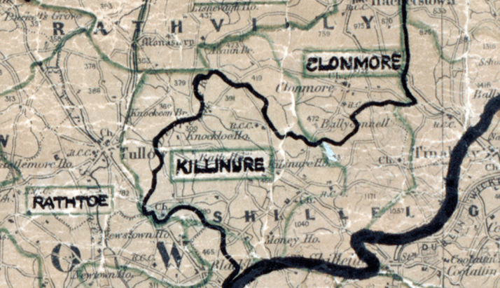 Killinure-map portlaoise