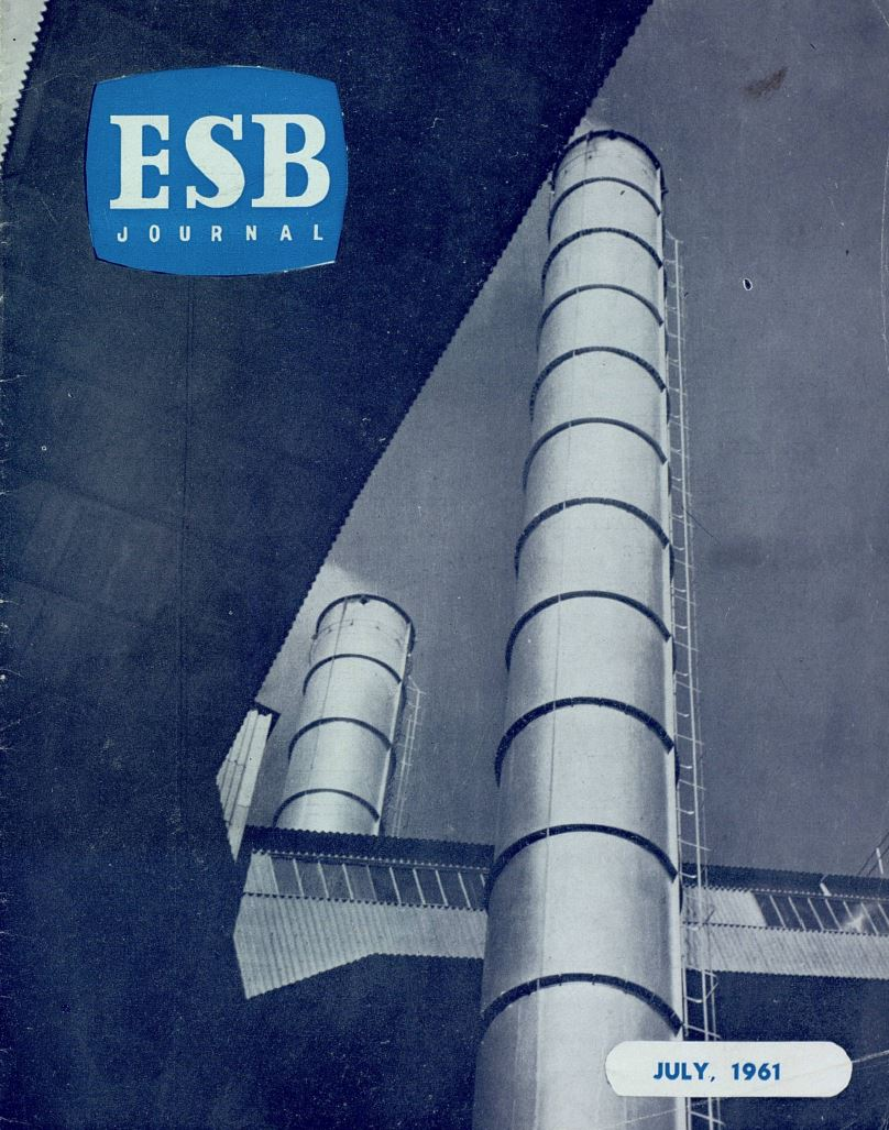 ESB Journal, July 1961. Photo: 'Patterns of Power', taken at Ferbane station by M Colley, Deputy Head of Public Relations Department.
