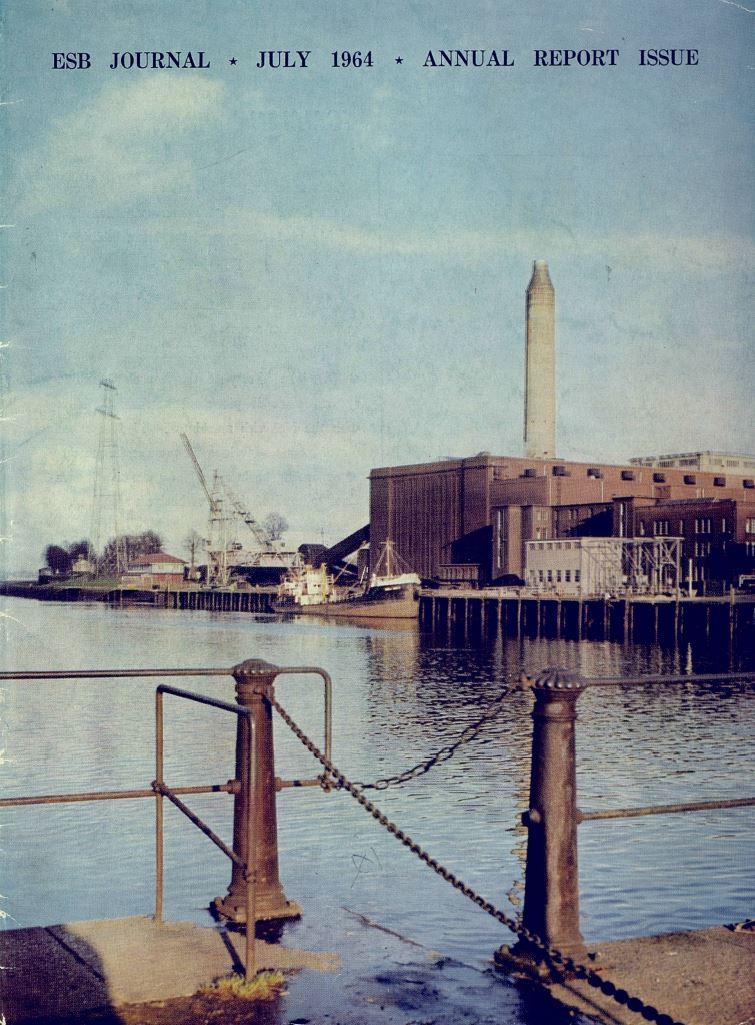 ESB Journal, July 1964. Photo: Marina power station, Co Cork.
