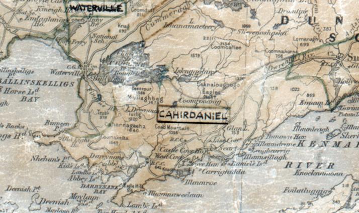 Caherdaniel-Map-tralee