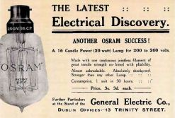 Ad for electric bulb, Corporation Catalogue, 1911