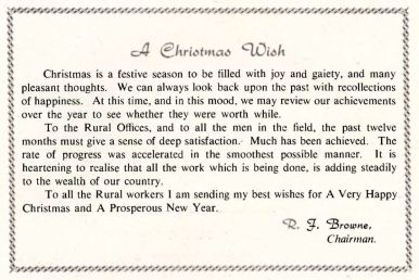 REO News, December 1953, Christmas wish from ESB Chairman, RJ Browne