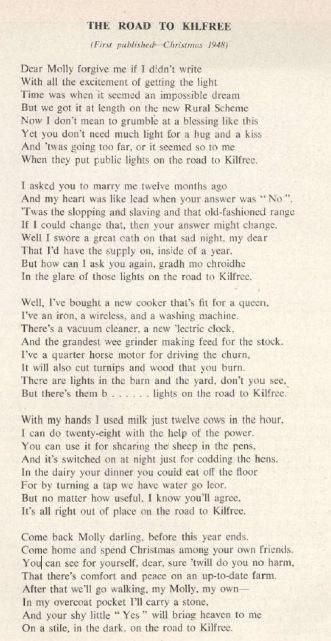 REO News, December 1955, 'The Road to Kilfree'