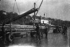 Unloading the cargo