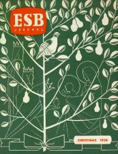 ESB Journal, December 1958, designed by Patricia Lynes, Public Relations Department