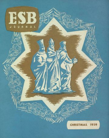 ESB Journal, December 1959, designed by Patricia Lynes, Public Relations Department