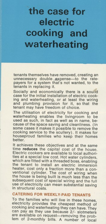 Electricity in Local Authority Housing, c1958, p 5