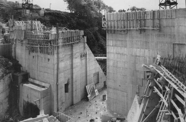 Poulaphouca Dam Construction