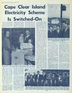 'Cape Clear Island Electricity Scheme is Switched-On' (Electric Mail, December 1971)