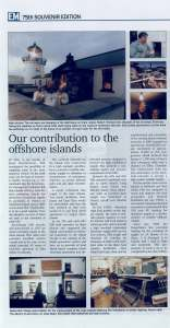 'Our Contribution to the Offshore Islands' (Electric Mail, 75th Souvenir Edition, 2002)