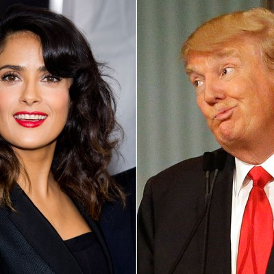Salma Hayek vs Donald Trump