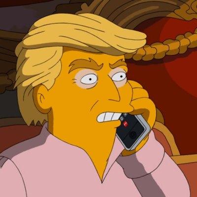 #TheSimpsons: Se burlan del terrible presidente que sería Trump