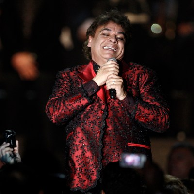 Juan Gabriel performs at the Latin Recording Academy Person of The Year event in his honor on Wednesday, Nov. 4, 2009, in Las Vegas. (AP Photo/Matt Sayles)