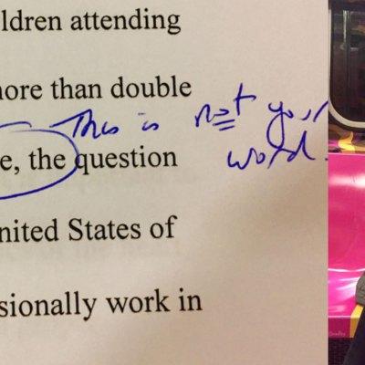 Profesora acusa a latina de plagio solo por escribir muy bien