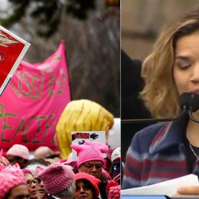 """#WomensMarch: """"El presidente no es Estados Unidos, nosotros somos Estados Unidos"""", America Ferrera"""