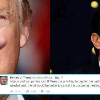Paga el muro o cancela la reunión, amenaza Trump a Peña Nieto