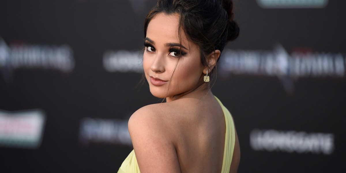 Becky G arrives at the Los Angeles premiere of Saban's
