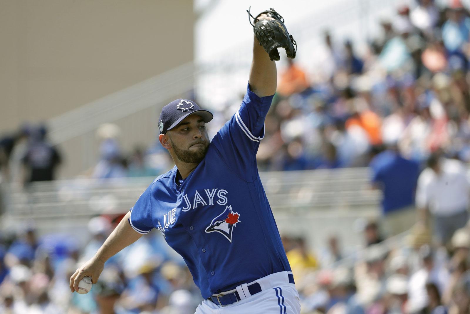 Marco Estrada, pitcher de los Azulejos de Toronto
