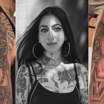 Tatuajes de la chicana Tamara Santibanez.