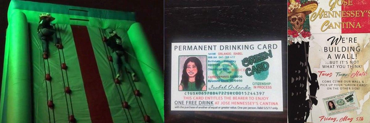 #Ideotas: Boicotean bar en California que lanzó estúpida promoción con muro inflable y 'green cards'