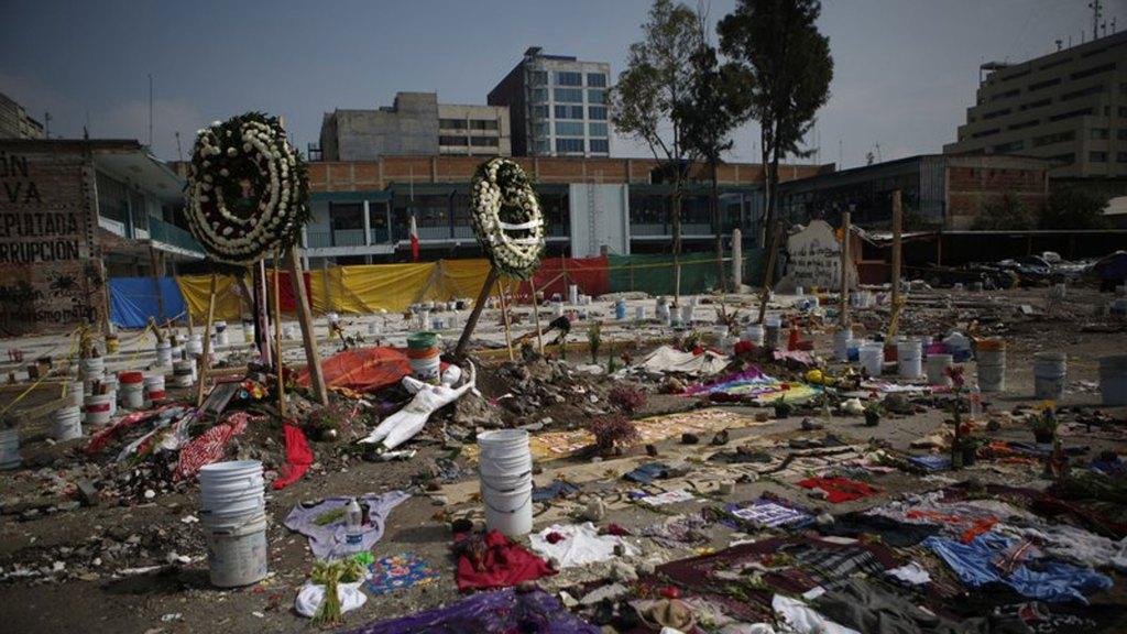 Altares tras sismo