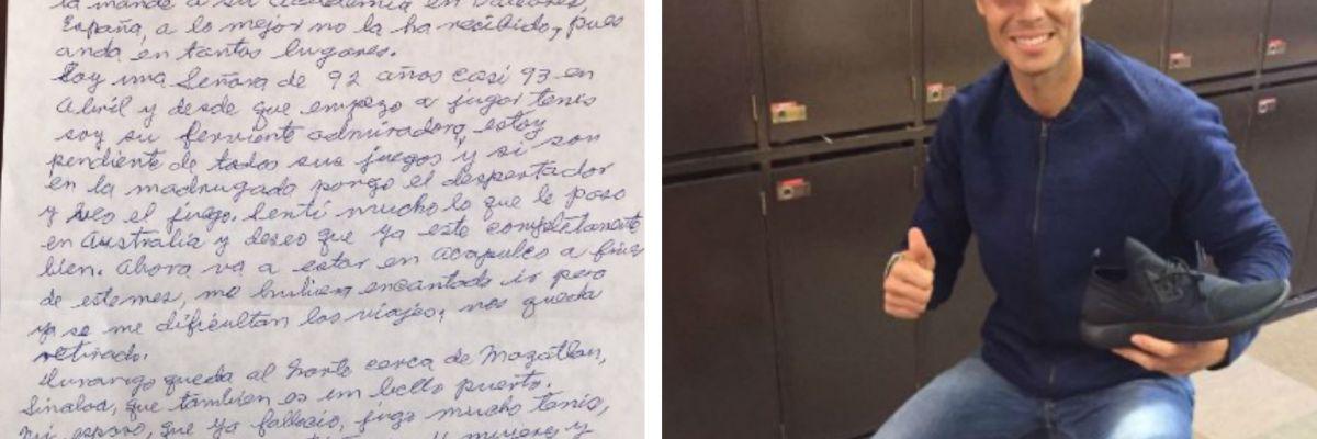 Abuelita mexicana conmueve a Rafael Nadal