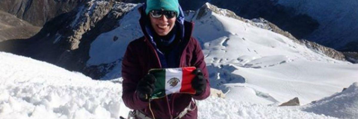 La alpinista mexicana se unió al Explorers Grand Slam,